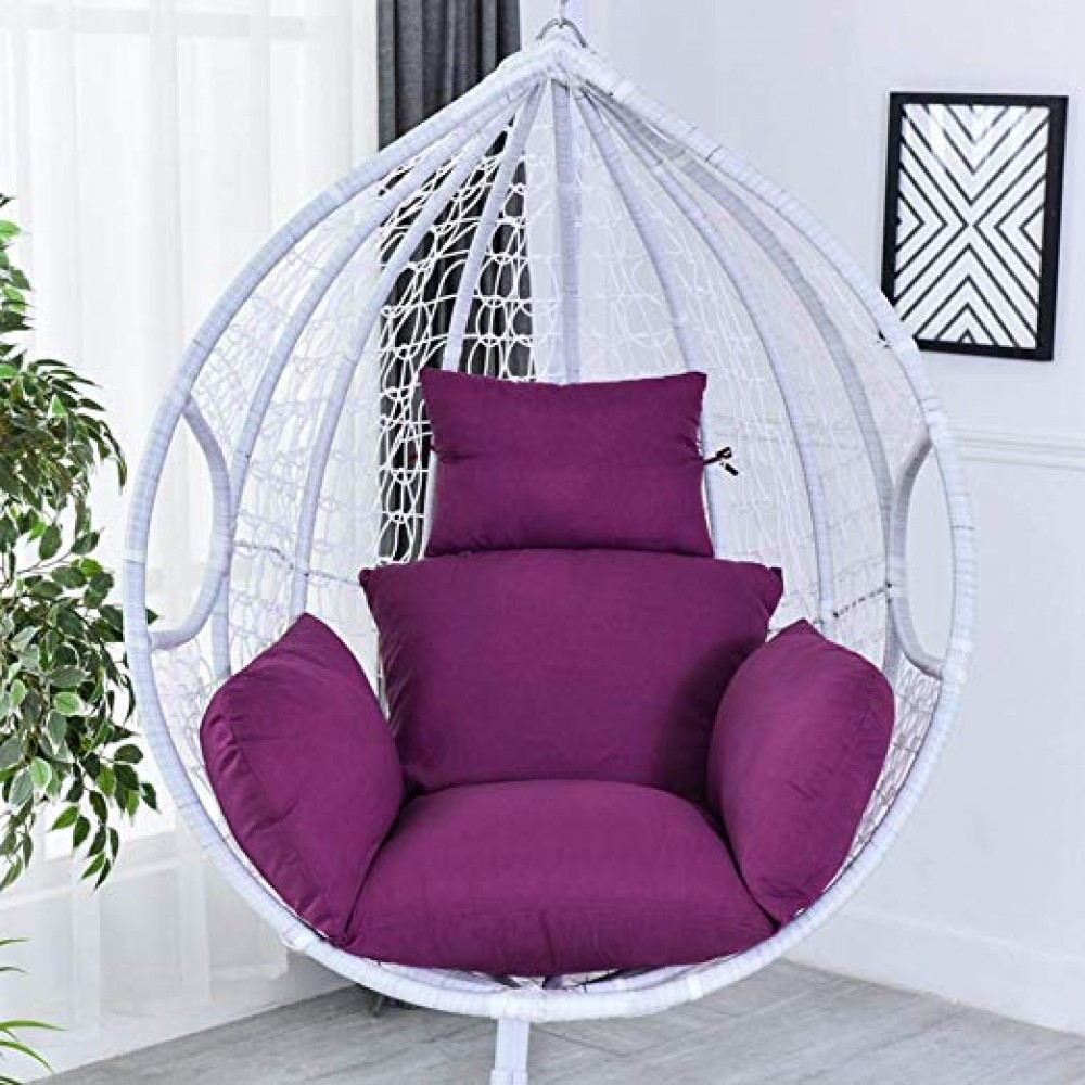 Urnanal Hanging Egg Hammock Chair Cushion Swing Seat Cushion Thick Nest Hanging Chair Back With Pillow